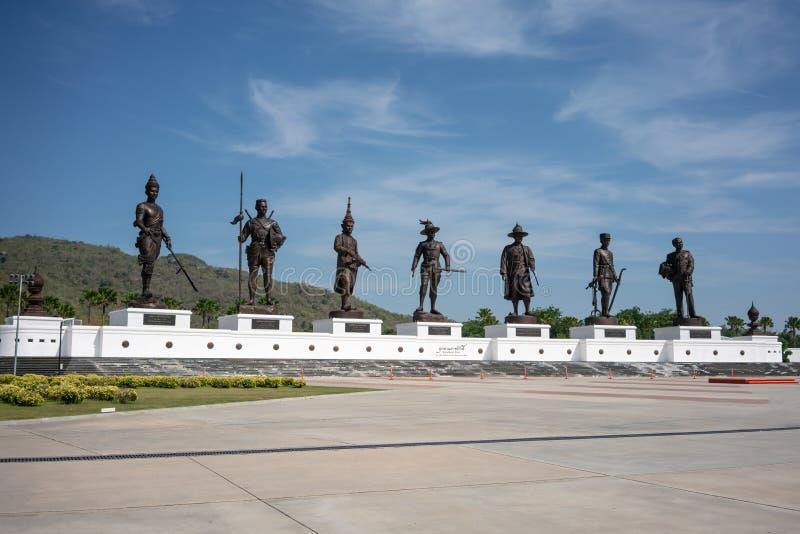 7 reis do memorial de Tailândia, parque de Rajabhakti, Prachuap Khiri KH fotos de stock