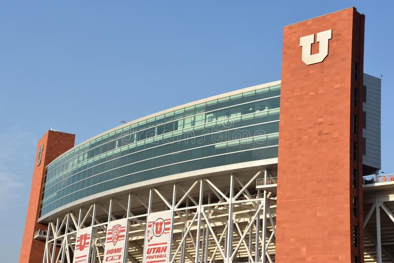 Reis Eccles-Stadion in Salt Lake City, Utah lizenzfreie stockfotos