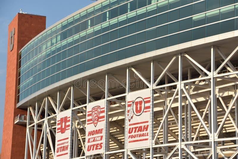 Reis Eccles-Stadion in Salt Lake City, Utah stockbilder