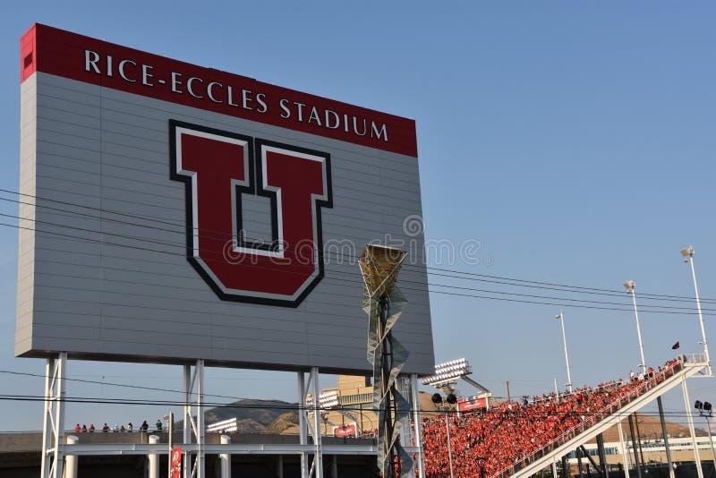 Reis Eccles-Stadion in Salt Lake City, Utah lizenzfreie stockfotografie