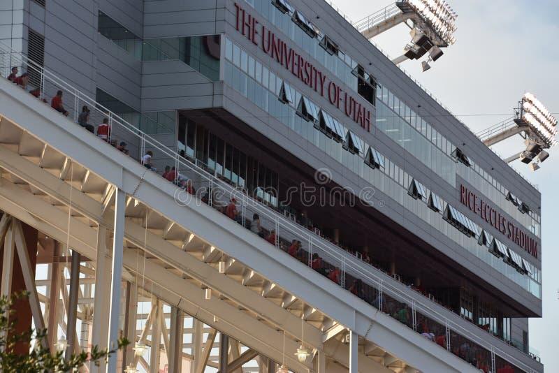 Reis Eccles-Stadion in Salt Lake City, Utah stockfoto