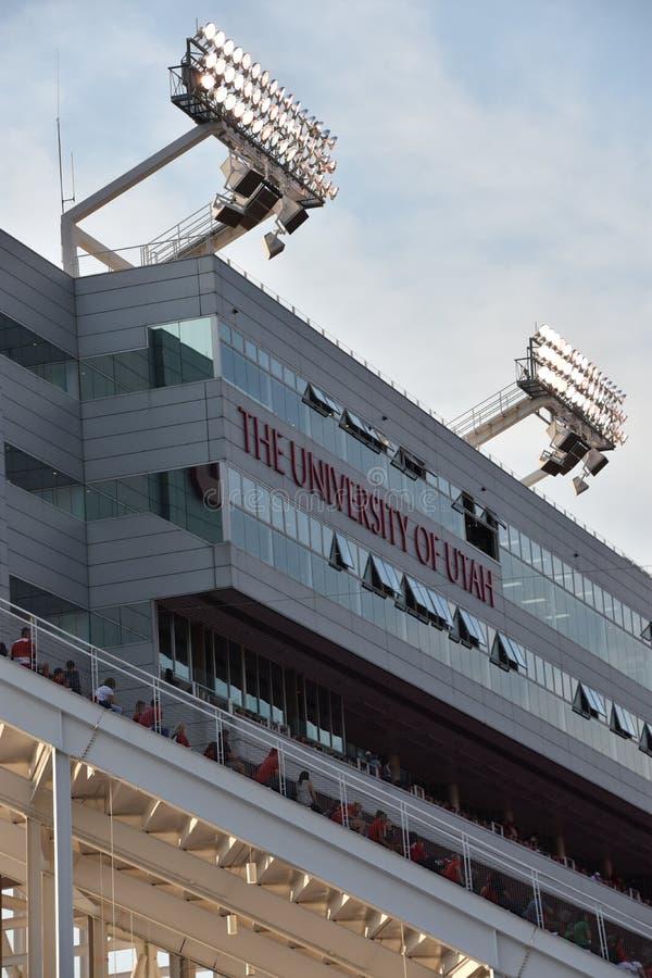 Reis Eccles-Stadion in Salt Lake City, Utah stockfotografie