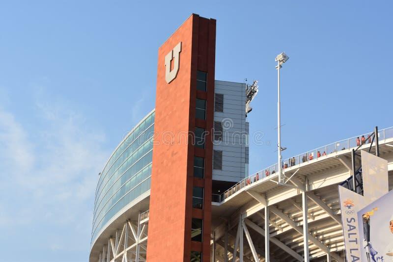 Reis Eccles-Stadion in Salt Lake City, Utah lizenzfreie stockbilder