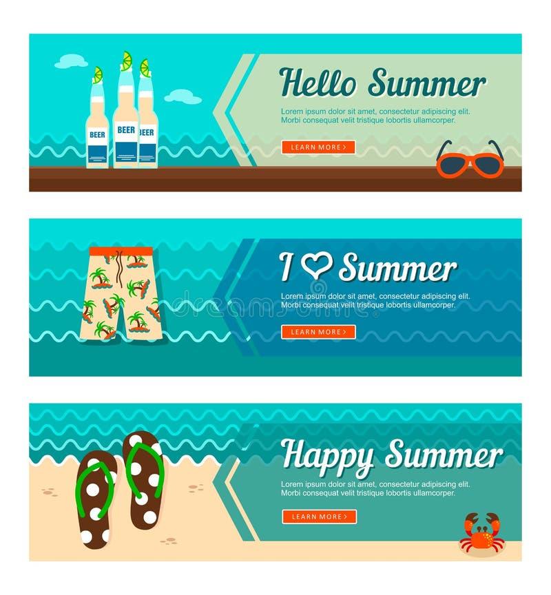 Reis en vakantie vectorbanners vector illustratie