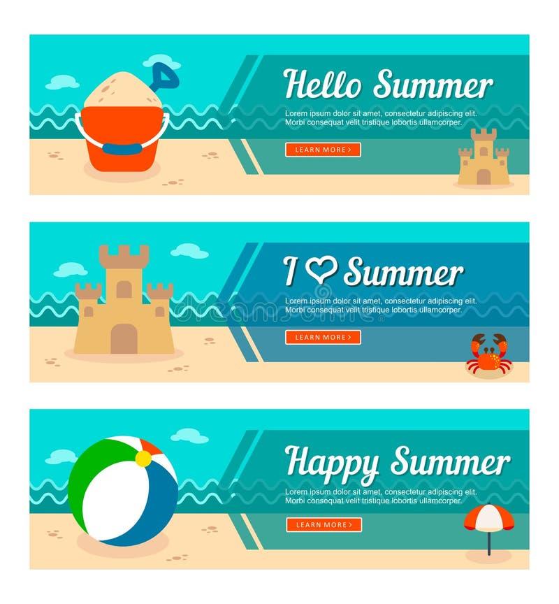 Reis en vakantie vectorbanners royalty-vrije illustratie