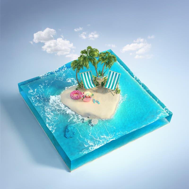 Reis en Vakantieachtergrond royalty-vrije illustratie