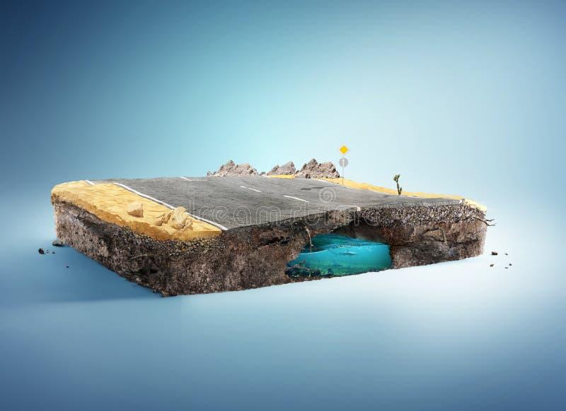 Reis en Vakantieachtergrond 3D Illustratie royalty-vrije illustratie