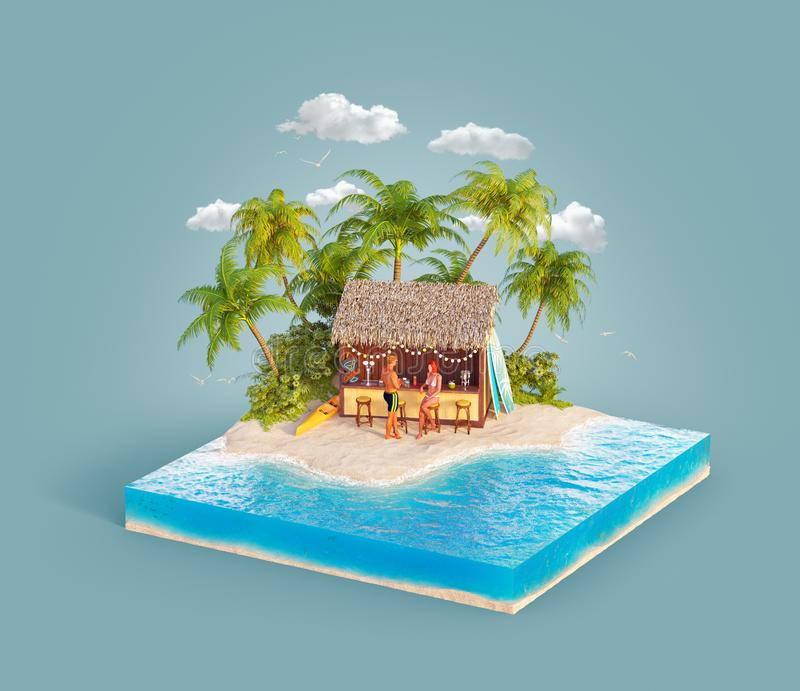 Reis en Vakantieconcept vector illustratie