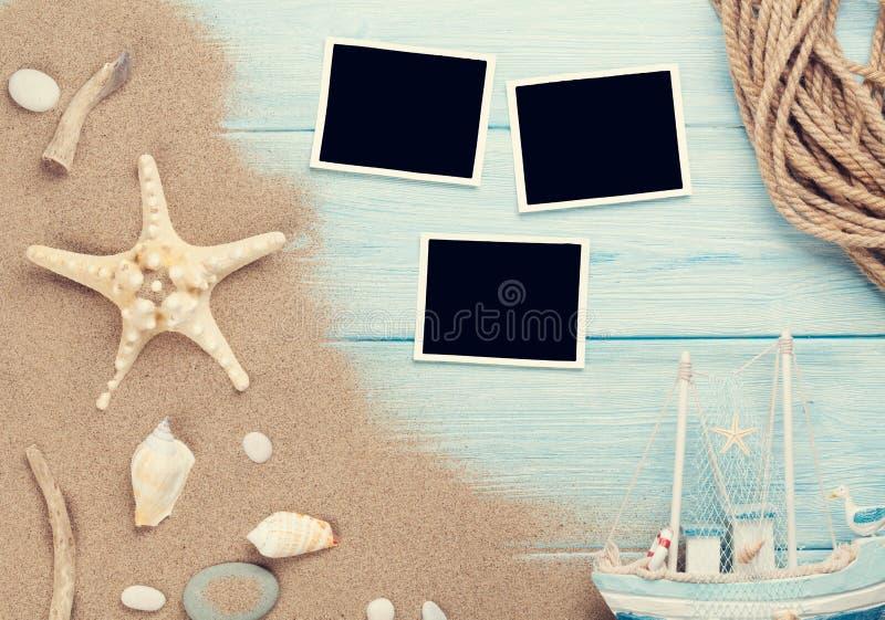 Reis en vakantiefotokaders en punten royalty-vrije stock foto's
