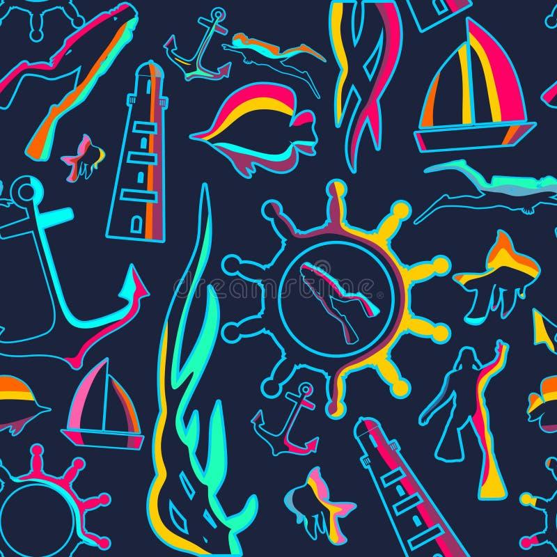 Reis en vakantieillustratie stock illustratie