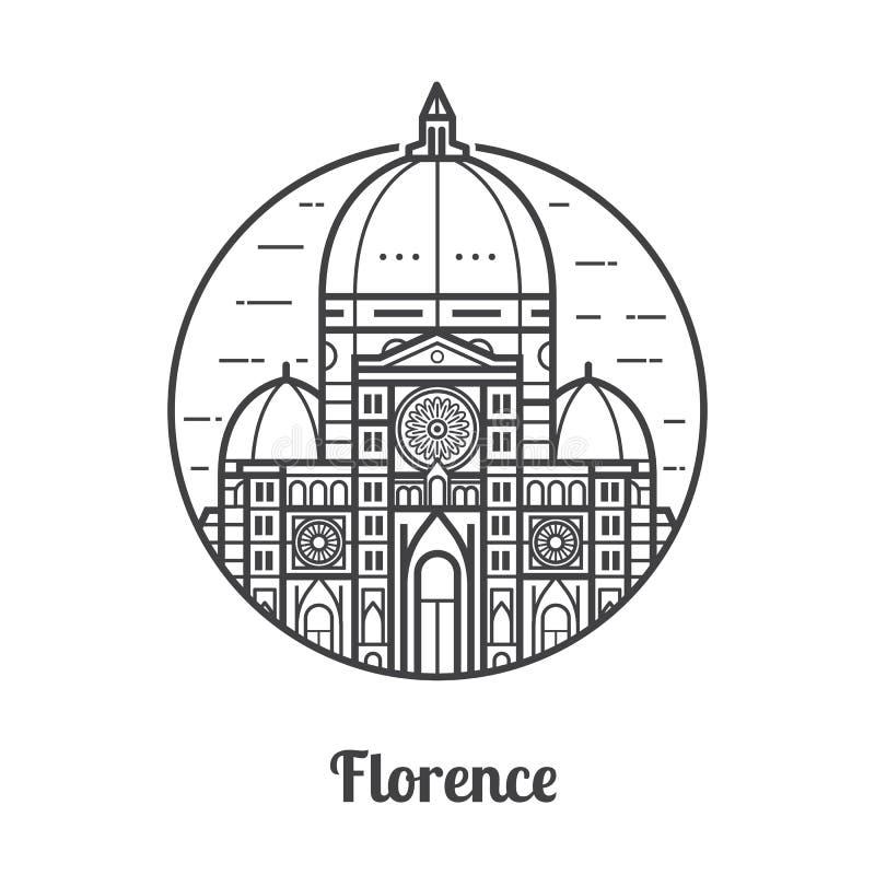 Reis Florence Icon royalty-vrije illustratie
