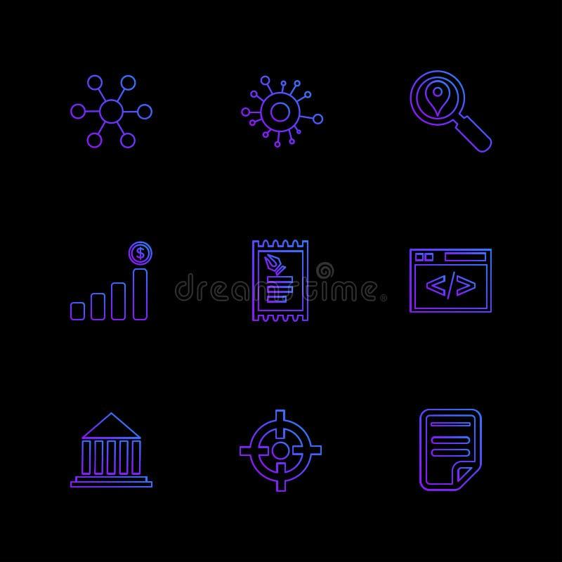 reis, geld, het winkelen, bestemming, navigatie, eps pictogrammen royalty-vrije illustratie