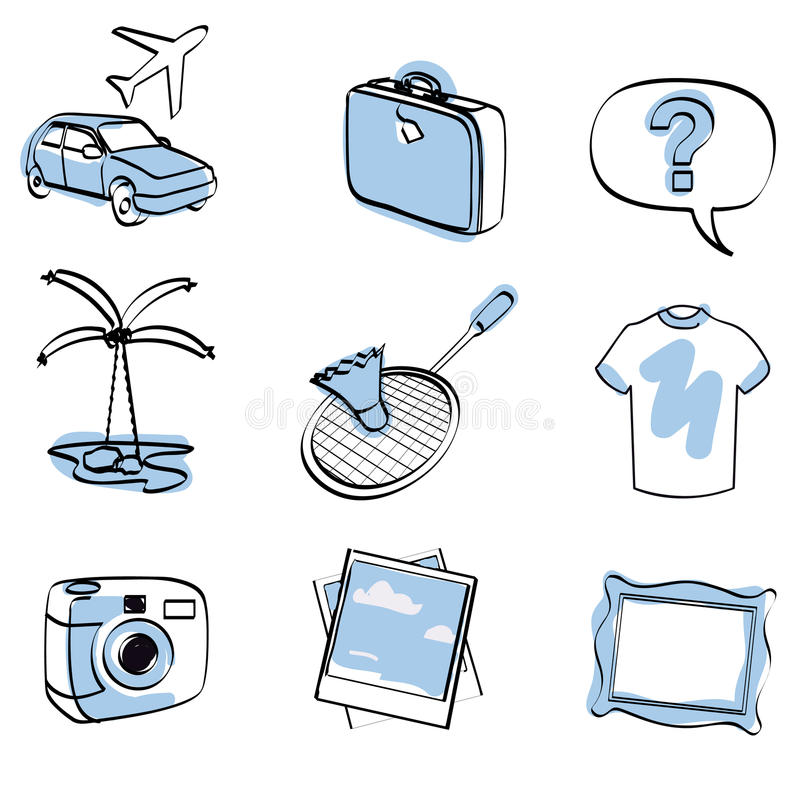 Reis geplaatst pictogram + vector stock illustratie