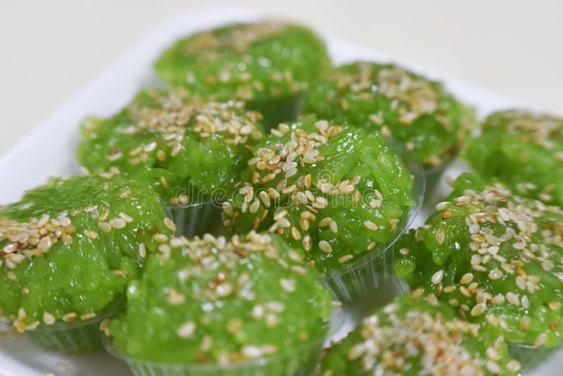Reis-grüner Nachtisch lizenzfreie stockfotografie