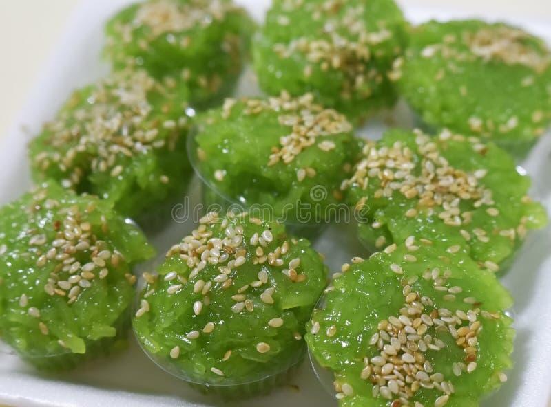 Reis-grüner Nachtisch stockbild
