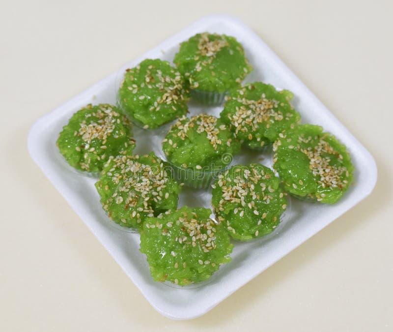 Reis-grüner Nachtisch stockfoto