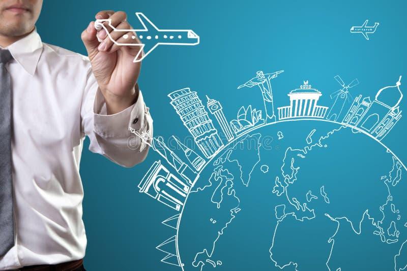 Reis het concept van het wereldmonument stock illustratie