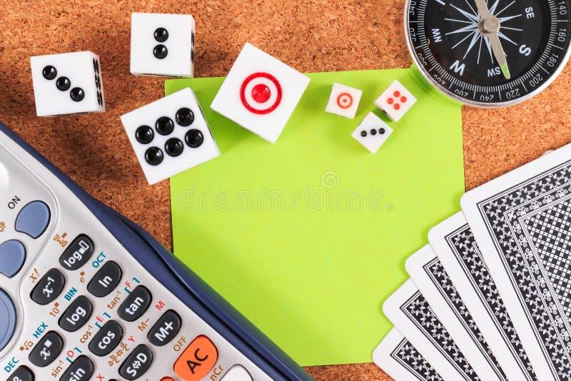 Reis het Gokken plannen en strategieën stock foto