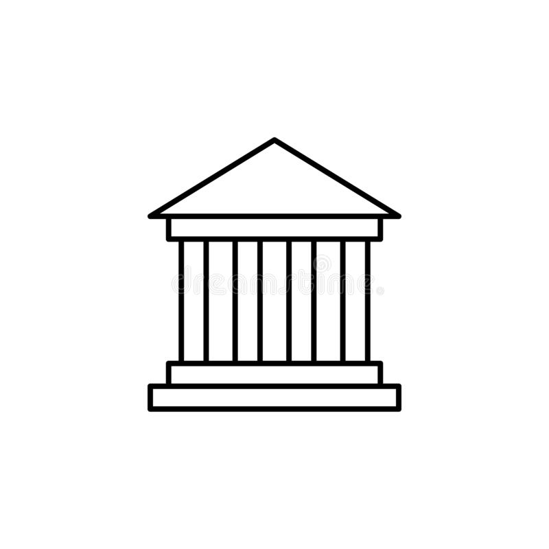 Reis, het pictogram van het museumoverzicht Element van reisillustratie Tekens en symbolen het pictogram kan voor Web, embleem, m stock illustratie