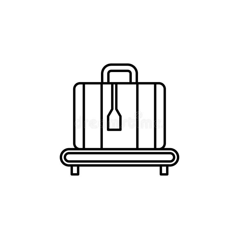 Reis, het pictogram van het zwempakoverzicht Element van reisillustratie Tekens en symbolen het pictogram kan voor Web, embleem,  stock illustratie