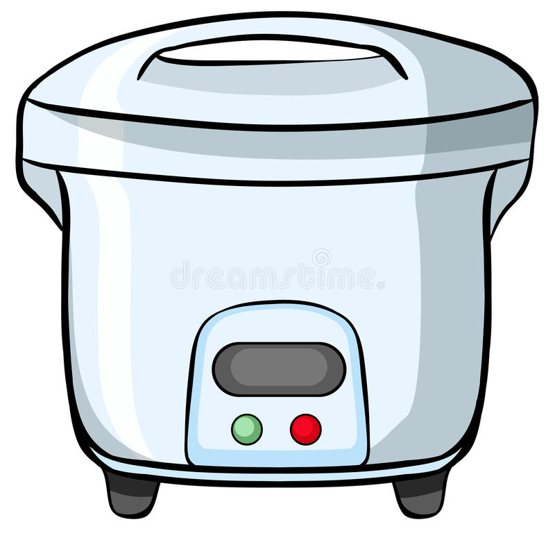 Reis-Kocher lizenzfreie abbildung