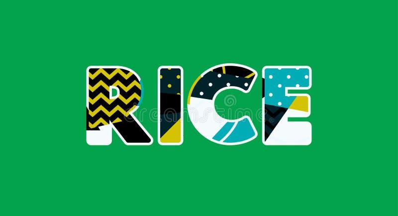 Reis-Konzept-Wort Art Illustration stock abbildung