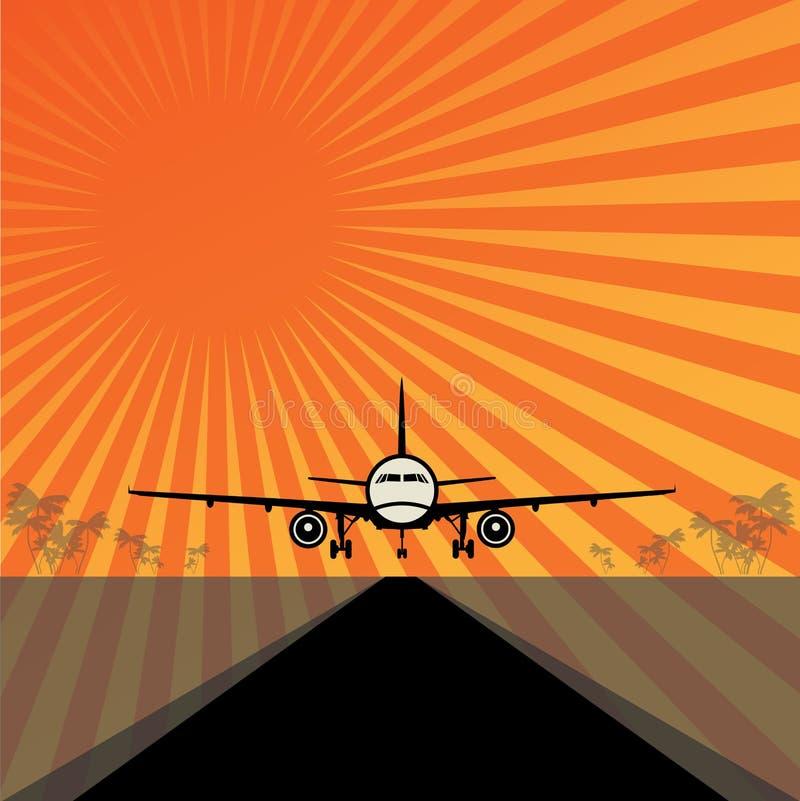 Reis of Luchtvrachtsamenvatting stock illustratie