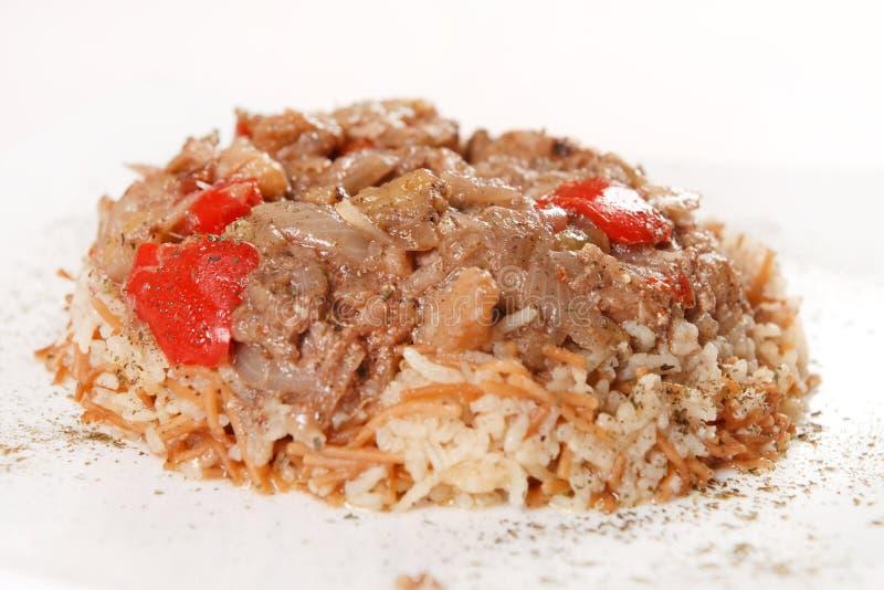 Reis mit Fleisch lizenzfreie stockbilder