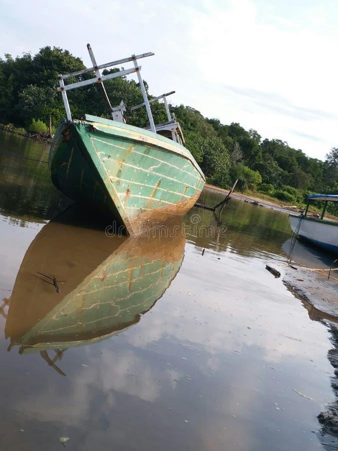 Reis naar Angsana-Strand, Zuiden Kalimantan, wonderfule Indonesië stock foto