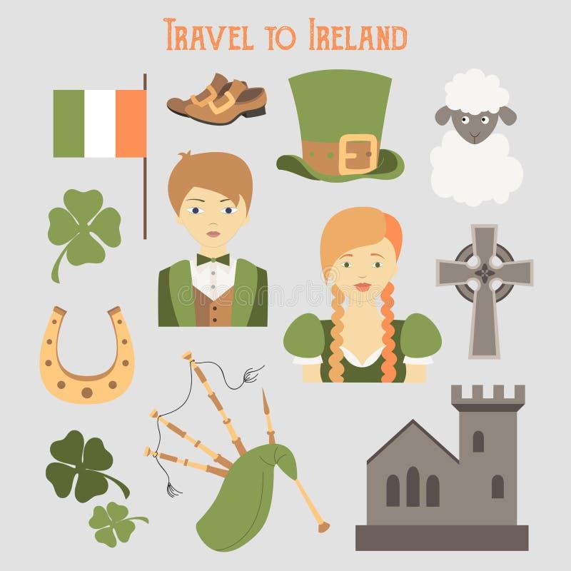 Reis naar Ierland stock illustratie
