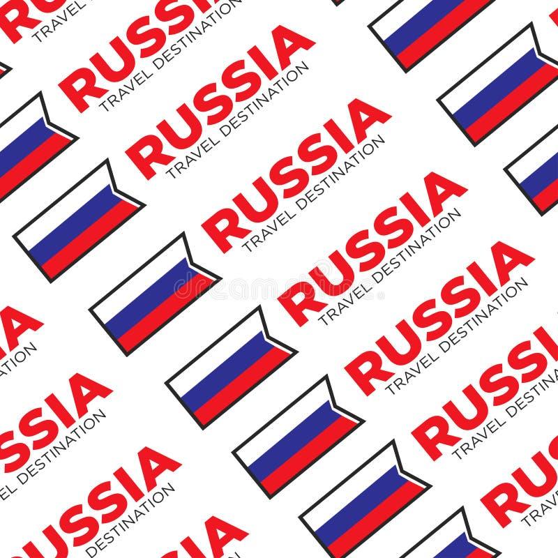Reis naar Russisch nationaal de vlag naadloos patroon van Rusland vector illustratie