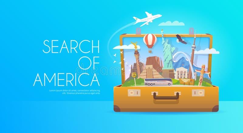Reis naar Zuid-Amerika vector illustratie