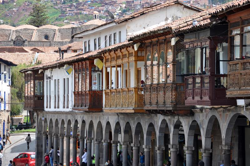 Reis Peru Lima en cusco en markten royalty-vrije stock foto