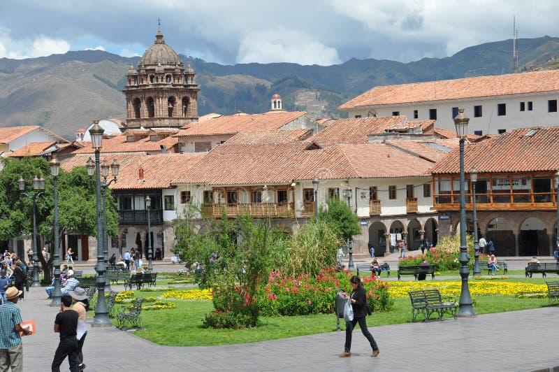Reis Peru Lima en cusco en markten stock foto's