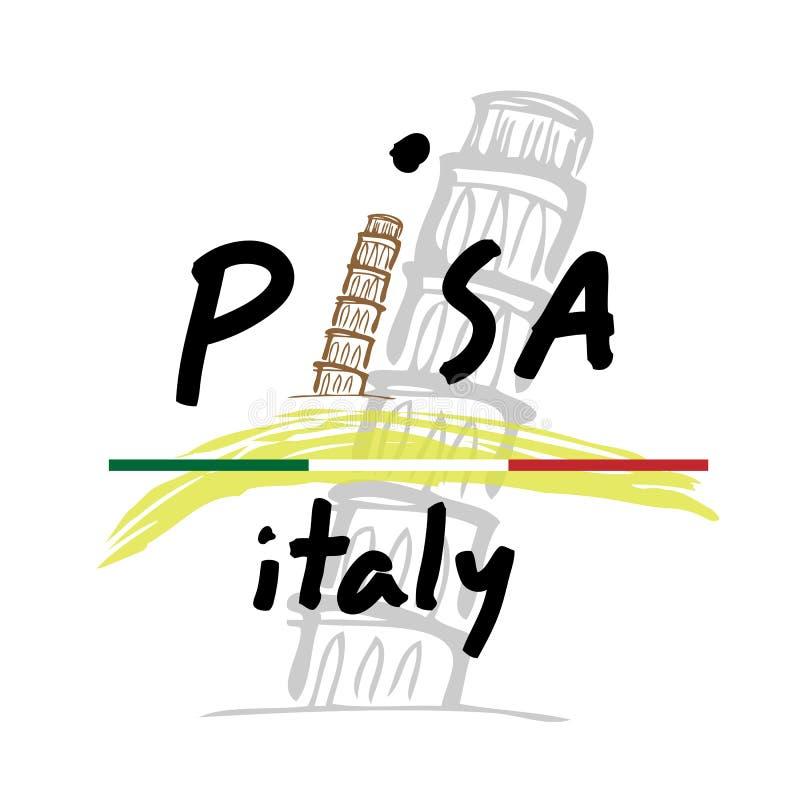Reis Pisa Italië stock illustratie