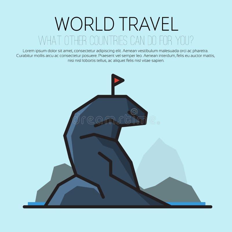 Reis, reis, het ontwerpmalplaatje van het reis vectorembleem royalty-vrije illustratie