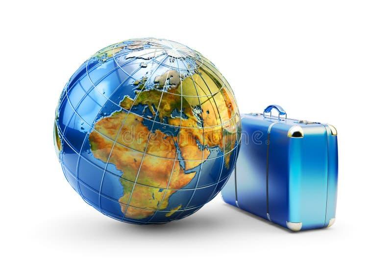 Reis rond het wereld, reis, reis en vakantieconcept vector illustratie