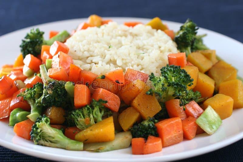 Reis u. Gemüse stockfotos