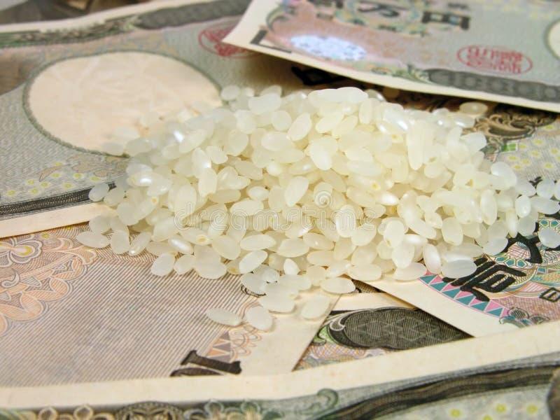 Reis und Geld lizenzfreie stockbilder