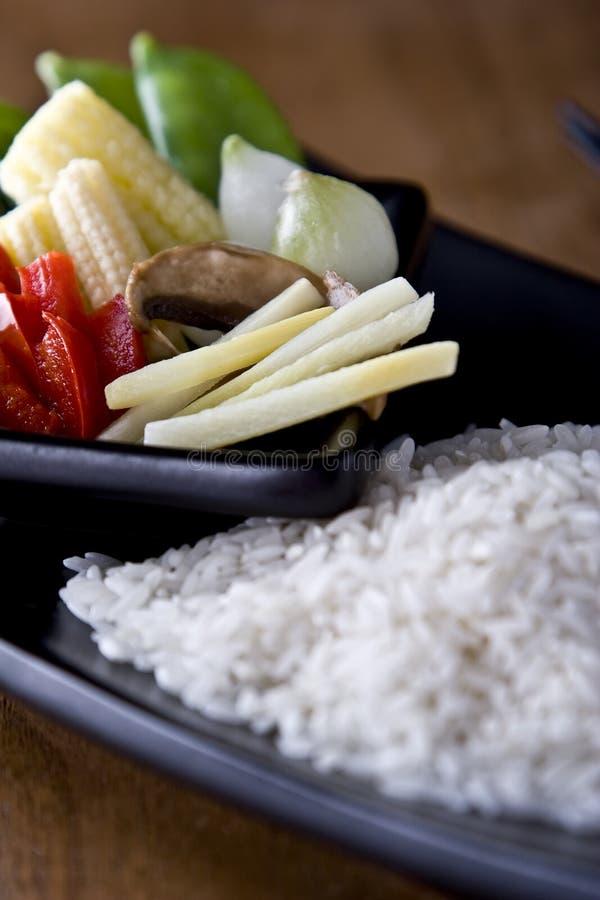 Reis und Vegtables lizenzfreies stockbild