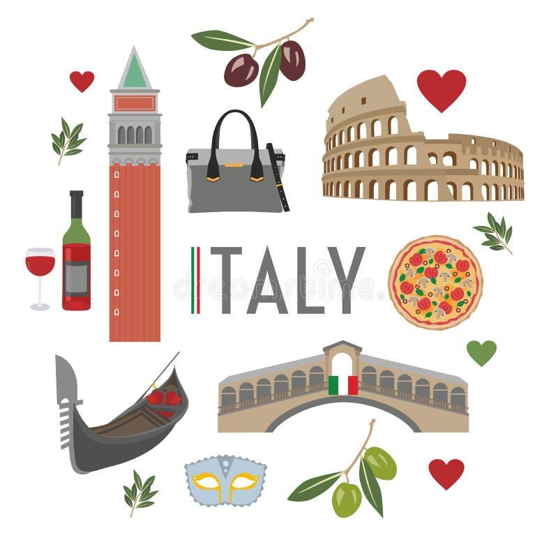 Reis 1 van Italië royalty-vrije illustratie