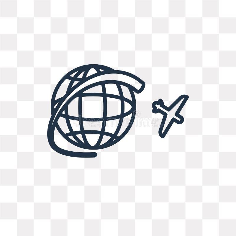 Reis vectordiepictogram op transparante achtergrond, lineaire Reis wordt geïsoleerd vector illustratie