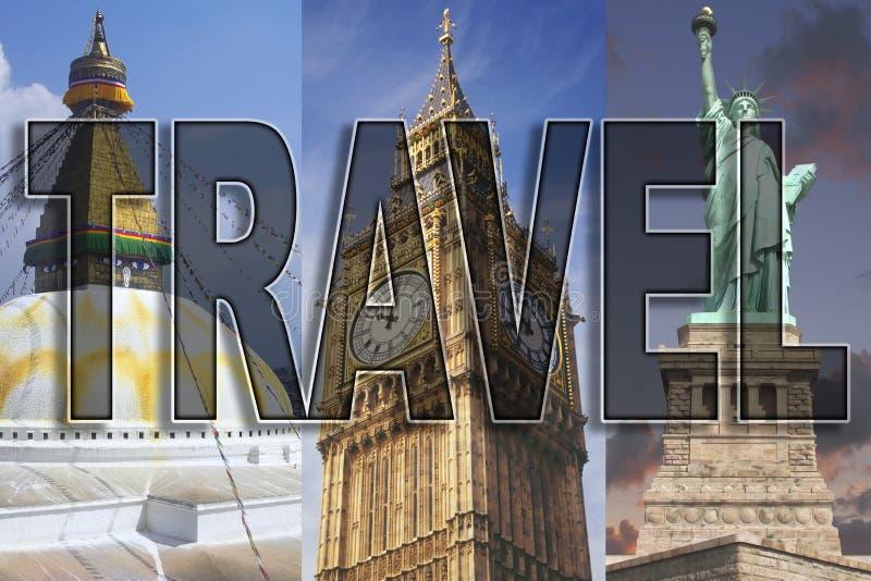 Reis wereldwijd royalty-vrije stock afbeelding