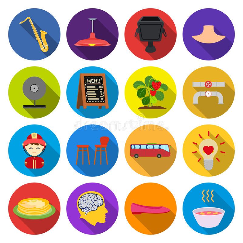 Reis, Woestijn, rust en ander Webpictogram in vlakke stijl snel voedsel, aard, businessicons in vastgestelde inzameling stock illustratie