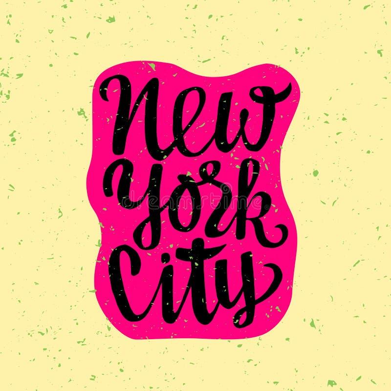 Reisaffiche met New York royalty-vrije illustratie