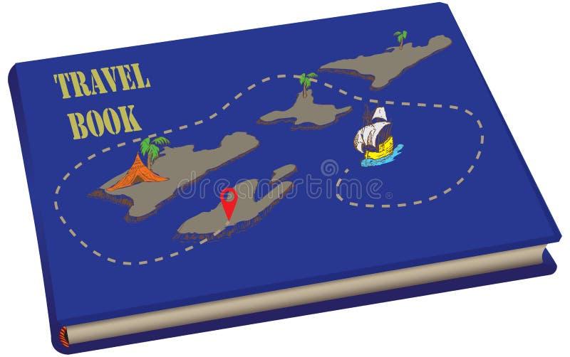 Reisboek met kaarten stock illustratie