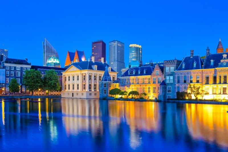 Reisconcepten Binnenhofpaleis van het Parlement in Den Haag royalty-vrije stock fotografie