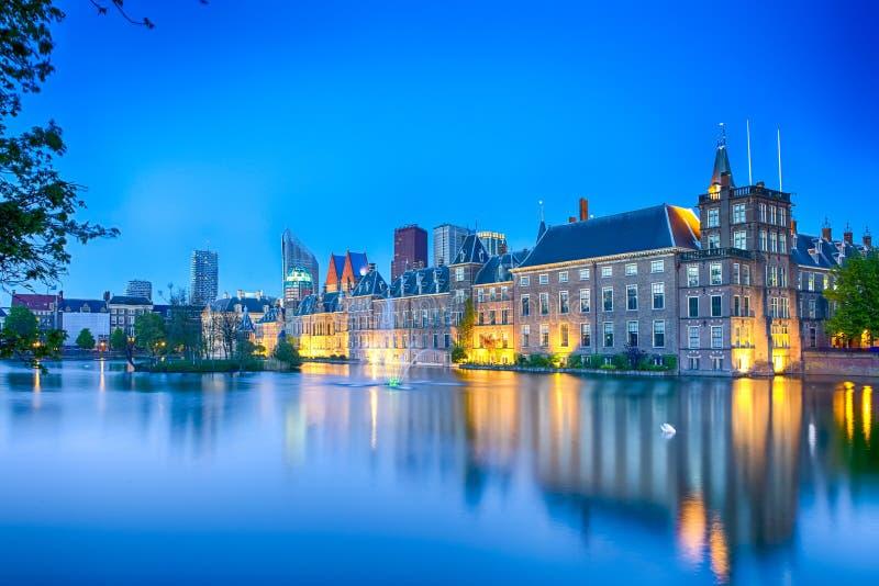 Reisconcepten Binnenhofpaleis van het Parlement in Den Haag binnen royalty-vrije stock foto