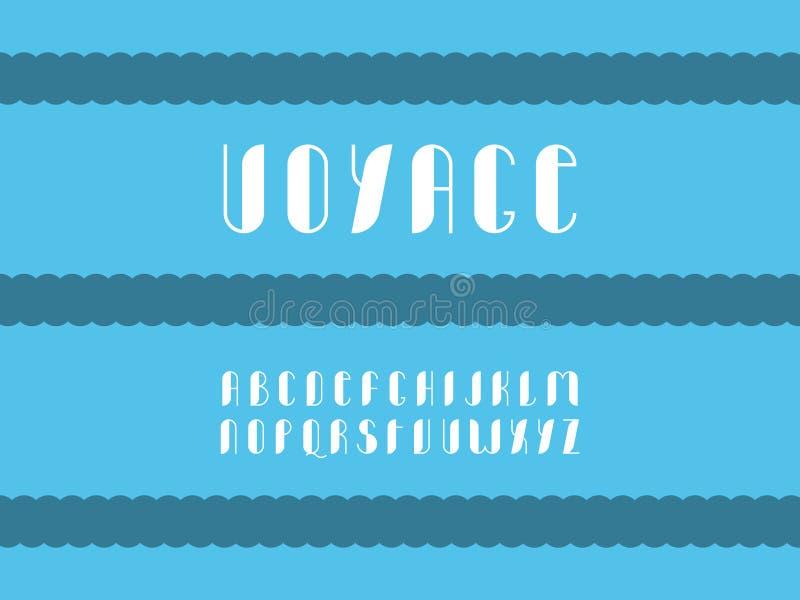 Reisdoopvont Vector alfabet vector illustratie