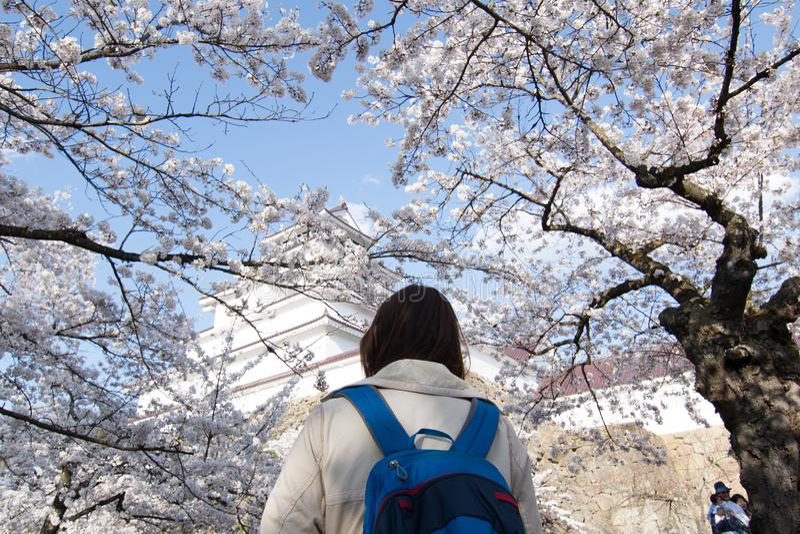 Reise in Aizuwakamatsu Japan stockfotografie